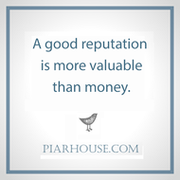 a good reputation is more valuable than money
